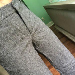 Zara Wool High Waisted Wide Leg Pants
